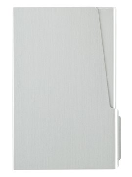 Estuche Porta Tarjetas En Aluminio Con Cierre A Presion - Plateado