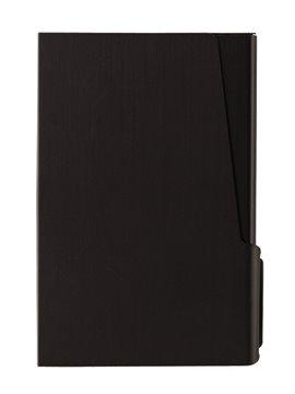 Estuche Porta Tarjetas En Aluminio Con Cierre A Presion - Negro