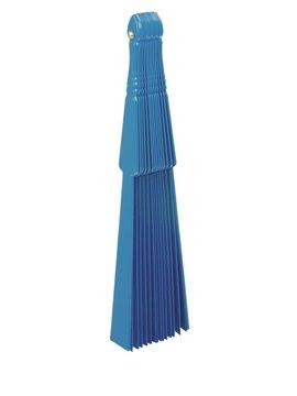 Abanico De 14 Brazos En Plastico y Tela Un Solo Tono - Azul