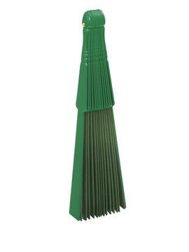Abanico De 14 Brazos En Plastico y Tela Un Solo Tono - Verde