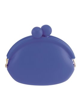 Mini Monedero En Silicona Sistema De Apertura Con Perlas - Azul