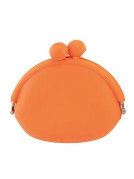 Mini Monedero En Silicona Sistema De Apertura Con Perlas - Naranja