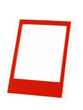 Portaretrato Almanaque Para Escritorio En Plastico - Rojo