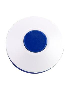 Pastillero Plastico Circular De Dos Funciones - Azul