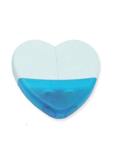 Resaltadores de Cera Forma de Corazon Elaborados en Plastico - Azul