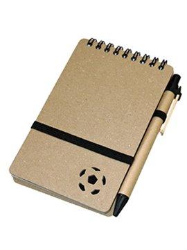 Cuaderno Libreta Futbol De 80 Hojas Con Banda Elastica - Negro