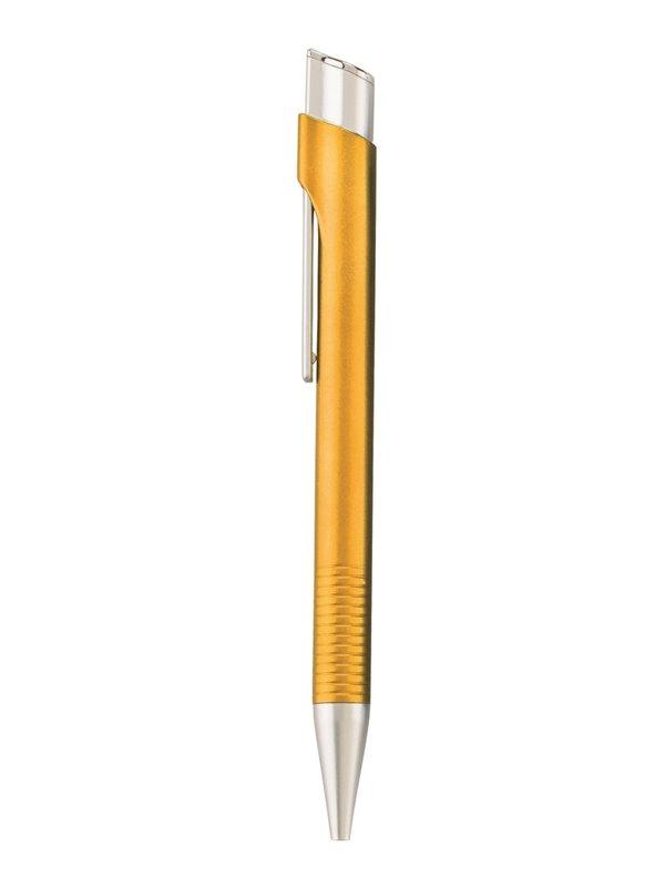 Esfero Boligrafo Plastico Aria Acabado Metalizado - Amarillo