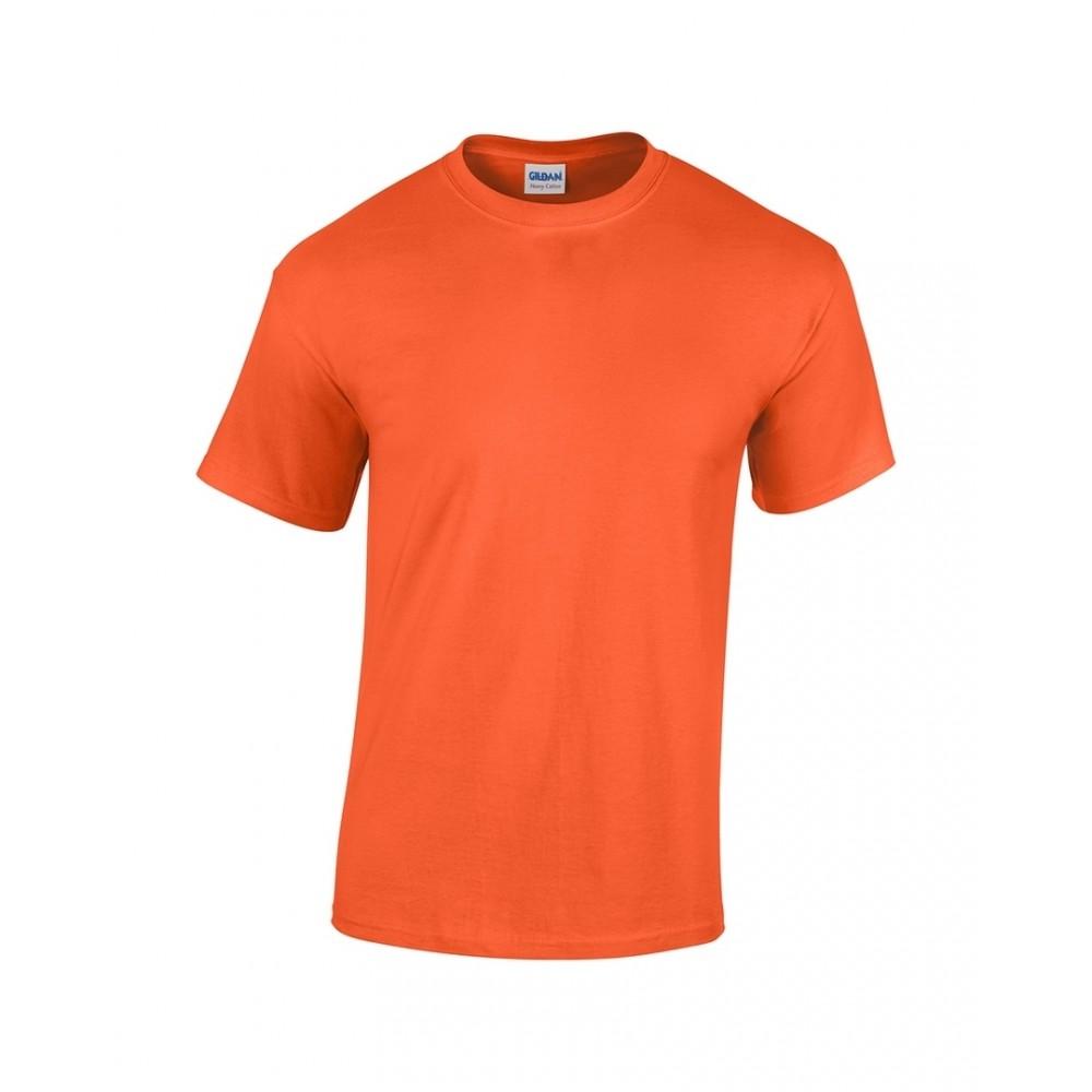 Gildan Camiseta Talla L T Shirt Adulto Cuello Redondo - Naranja