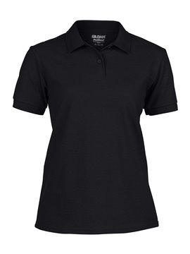 Gildan Camiseta Talla L Polo Adulto Dama Poliester de 220 gr - Negro
