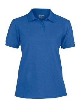 Gildan Camiseta Talla L Polo Adulto Dama Poliester de 220 gr - Royal