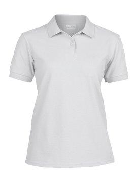 Gildan Camiseta Talla M Polo Adulto Dama Poliester de 220 gr - Blanco