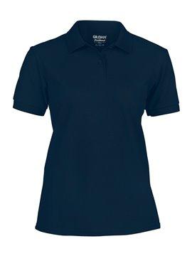 Gildan Camiseta Talla S Polo Adulto Dama Poliester de 220 gr - Azul Marino