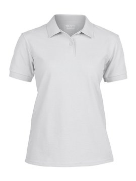 Gildan Camiseta Polo Adulto Dama Talla XL Poliester 220 gr - Blanco
