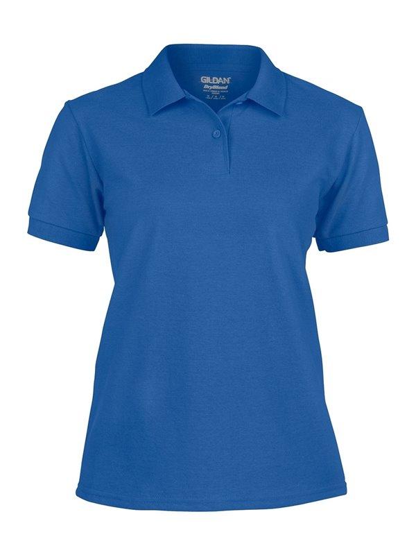 Gildan Camiseta Polo Adulto Dama Talla XL Poliester 220 gr - Royal