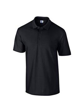Gildan Camiseta Polo Adulto Talla S Poliester de 220 gr - Negro