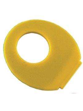 Abanico En Polipropileno Finger Con Abertura Redonda - Amarillo