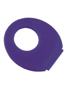 Abanico En Polipropileno Finger Con Abertura Redonda - Azul