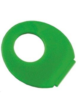 Abanico En Polipropileno Finger Con Abertura Redonda - Verde