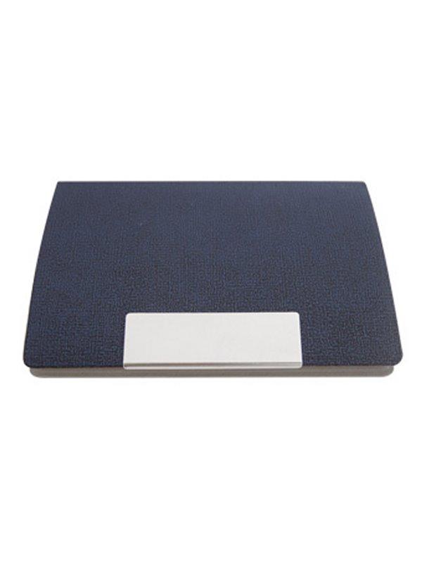 Tarjetero Exterior Vinilo Textuado Placa Metalica Imantado - Azul