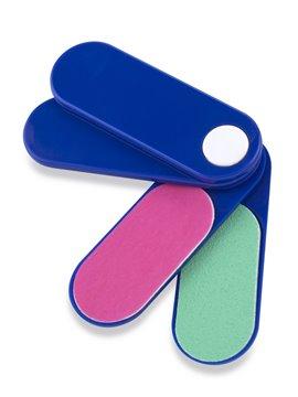 Set plastico giratorio de 2 limas y 2 pulidoras - Azul