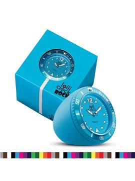 Reloj Lolli Rock Reloj de Mesa o Escritorio - Azul Claro
