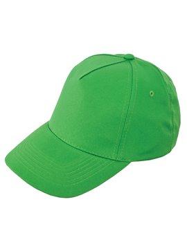 Gorra Cachucha Poliester 5 Cascos Velcro Ojetes Bordados - Verde