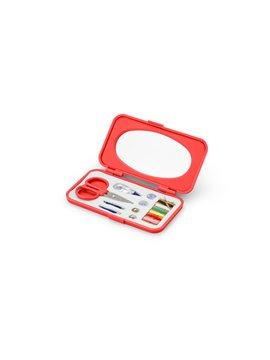 Mini Costurero Glib Con Accesorios y Espejo Elaborado en PS - Rojo