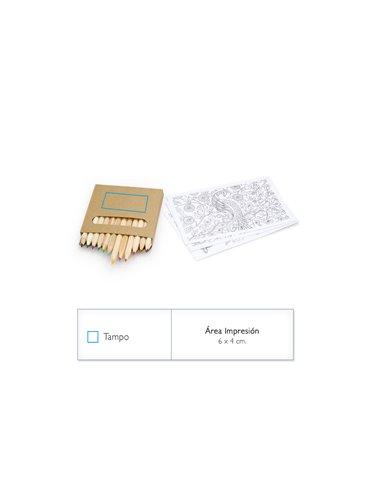 Set de 12 Colores Native en Caja de Carton Con Dibujos - Verde