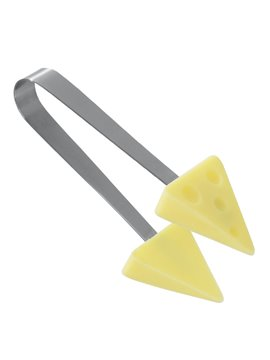 Pinzas Para Cocina de Acero Inoxidable Snacks Mini Tongs - Amarillo