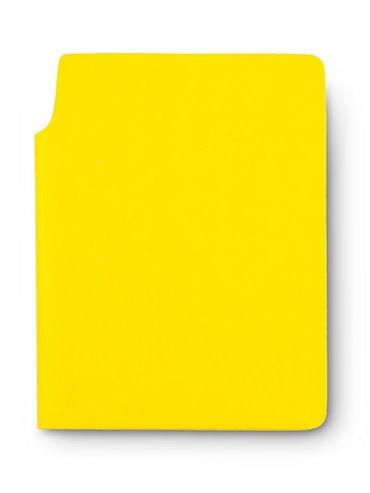Libreta Cuaderno Bloc de Notas Newton En Poliuretano - Amarillo