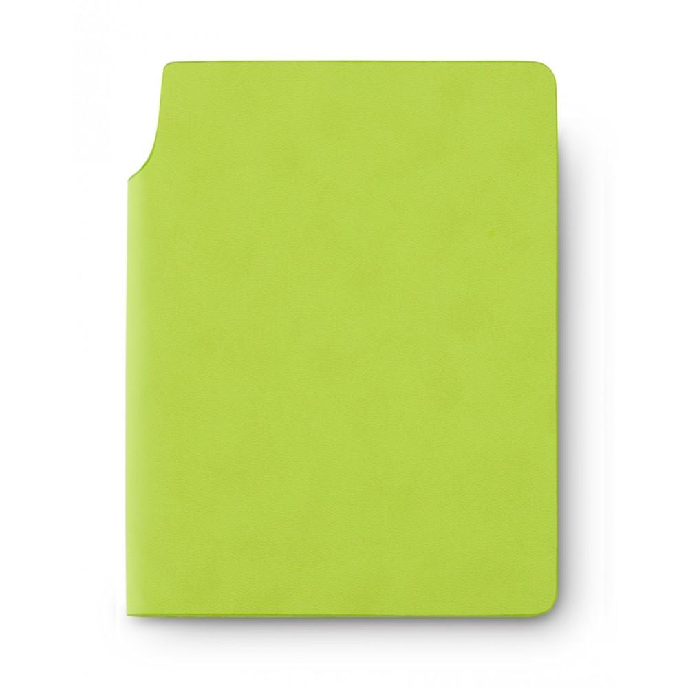 Libreta Cuaderno Bloc de Notas Newton En Poliuretano - Verde