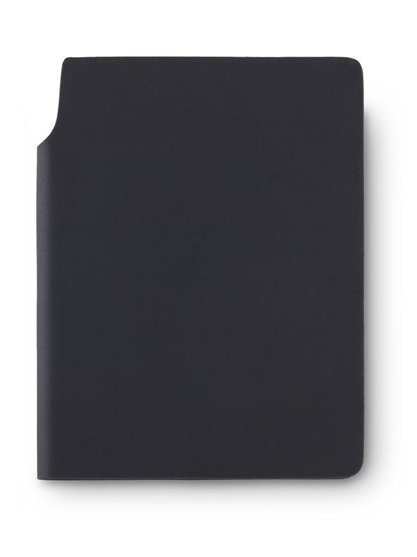 Libreta Cuaderno Bloc de Notas Newton En Poliuretano - Negro