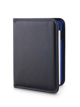 Carpeta Folder Icarus Con Bloc de Papel y Portaboligrafo - Negro/Azul