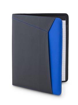 Carpeta Folder Madigan Con Bloc de Papel y Portaboligrafo - Negro/Azul