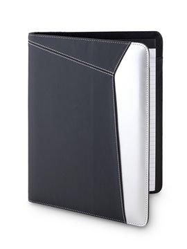 Carpeta Folder Madigan Con Bloc de Papel y Portaboligrafo - Negro/Gris