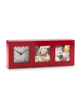 Reloj de Mesa Portaretrato Duff Elaborado en Plastico - Rojo