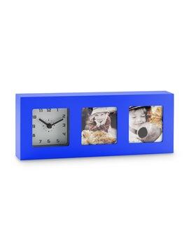 Reloj de Mesa Portaretrato Duff Elaborado en Plastico - Azul