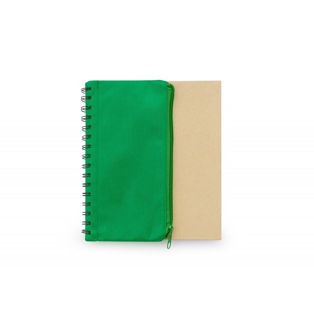 Cuaderno Libreta Bloc de Notas Cartuchera Duo Tamaño A5 - Verde Esmeralda