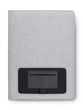 Carpeta Folder Greenford Poliester Bolsillo Exterior - Gris