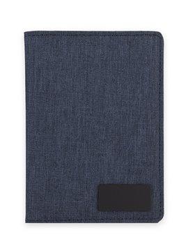 Estuche Porta Pasaporte Security Elaborado En Poliester - Azul