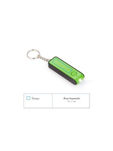Llavero Linterna con Holder Glow y Luz Led - Verde Limon