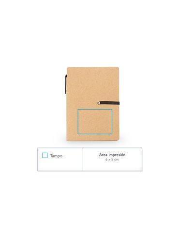 Cuaderno Libreta Ecologica Memo Sticky Incluye Boligrafo - Azul Oscuro