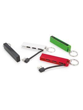 USB HUB Line de 3 Puertos con Llavero - Azul Rey