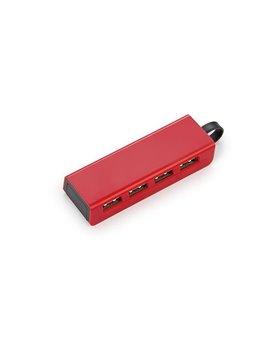 Ventilador Portatil En Plastico Practico Diseño - Rojo