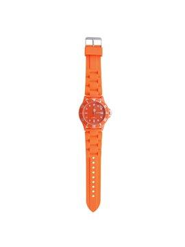 Reloj de Pulso Con Accesorio Giratorio y Manecillas Glow - Naranja