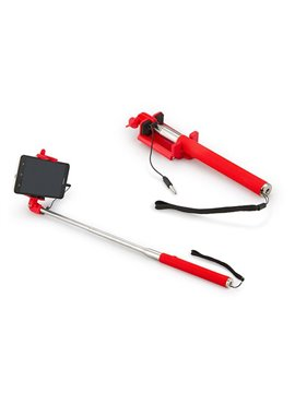 Palo Selfie Brazo Extensible en ABS Stick Great - Rojo