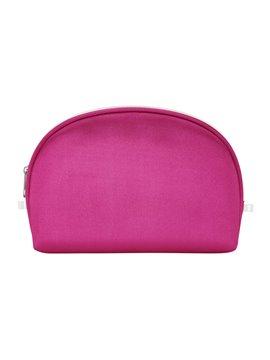 Cosmetiquera Ovalada Pink Seda Poliester Cremallera - Rosado