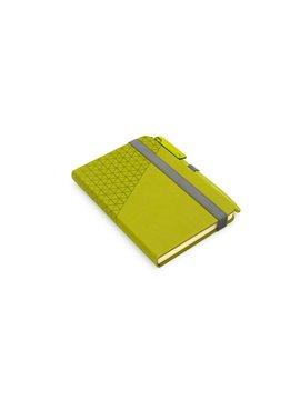 Cuaderno Libreta Plastico con Boligrafo Rome - Verde Limon