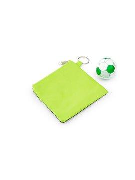 Paño Magico Toalla Comprimida Sport Diseño de Balon - Verde Limon