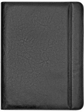Carpeta Portafolio Roma en Simil Cuero Soporte Tablet - Negro